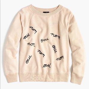 NWT J Crew cotton sweatshirt